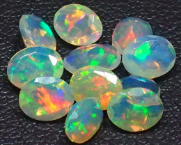 Mixed Size 2.22Cts Natural Faceted Calibrate Ethiopia Untreated Opal
