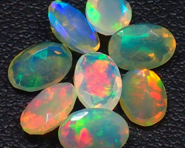 Mixed Size 2.50Cts Natural Faceted Calibrate Ethiopia Untreated Opal