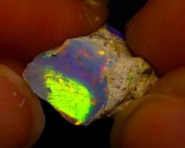 3.58Ct Multi Color Play Ethiopian Welo Opal Rough J1211/R2