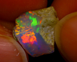 2.74Ct Multi Color Play Ethiopian Welo Opal Rough J1212/R2