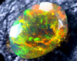 0.57cts Natural Ethiopian Faceted Smoked Black Opal / BF1700