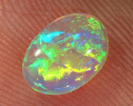 0.5ct 7.3x5.3mm Solid Lightning Ridge Crystal Opal [LO-2268]