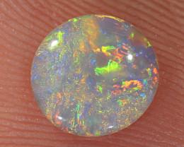 0.54ct 7.2x6.9mm Solid Lightning Ridge Crystal Opal [LO-2270]