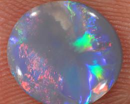 1.25ct 10.5x9.5mm Solid Lightning Ridge Dark Opal [LO-2274]