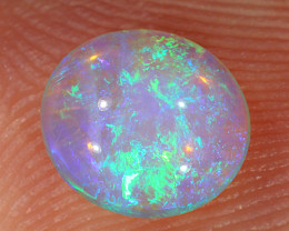 0.9ct 7x6.3mm Solid Lightning Ridge Crystal Opal [LO-2281]