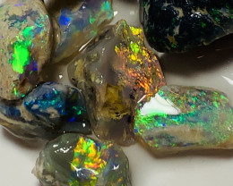 MULTICOLOUR BRIGHT ROUGH NOBBY OPALS- SMALL SIZE #275