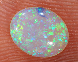 0.5ct 7x5.8mm Solid Lightning Ridge Crystal Opal [LO-2287]