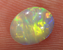 0.68ct 7.3x5.7mm Solid Lightning Ridge Crystal Opal [LO-2289]