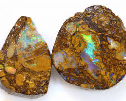 26.75CTS YOWAH OPAL PREFINISHED RUB PAIR DT-A1837