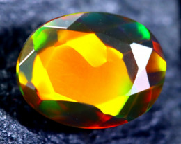 1.35cts Natural Ethiopian Faceted Smoked Black Opal / BF1730