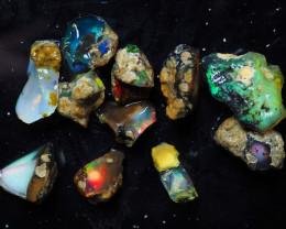 Ethiopian Welo Opal, Nice color rough,  57.50 ct