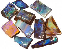120cts  Boulder Opal Rough/Rub Pre-Shaped PARCEL  10Pieces -S1322