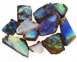 95.5cts  Boulder Opal Rough/Rub Pre-Shaped PARCEL 11Pieces -S1324