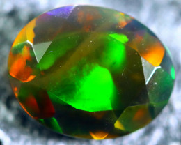 1.06cts Natural Ethiopian Faceted Smoked Black Opal / BF1769