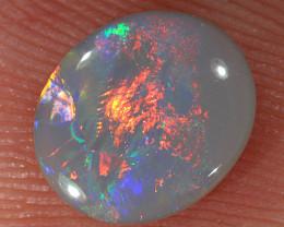 0.7ct 7.8x6.6mm Solid Lightning Ridge Dark Opal [LO-2315]
