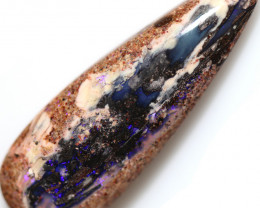 28.50 CTS BOULDER WOOD FOSSIL STONE -PIPE OPAL [BMA9567]