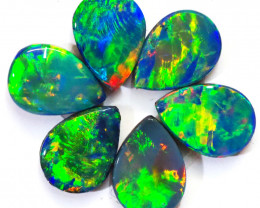 2.89CTS 6 PIECES OPAL DOUBLET PARCEL GREAT COLOUR PLAY --S1360