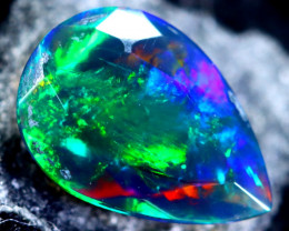 0.84cts Natural Ethiopian Faceted Smoked Black Opal / HM105