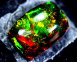 1.61cts Natural Ethiopian Smoked Black Opal / HM107