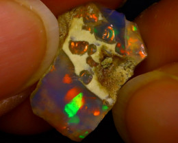 4.76Ct Multi Color Play Ethiopian Welo Opal Rough J1814/R2