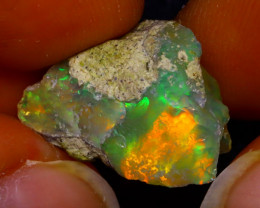8.77Ct Multi Color Play Ethiopian Welo Opal Rough J1818/R2