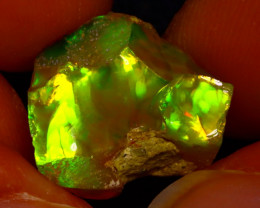 7.55Ct Multi Color Play Ethiopian Welo Opal Rough J1822/R2