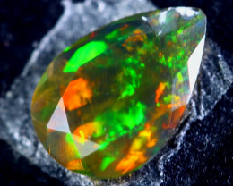 1.34cts Natural Ethiopian Faceted Smoked Black Opal / BF1814