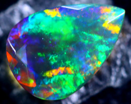 1.16cts Natural Ethiopian Faceted Smoked Black Opal / BF1794