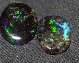 10.00 CRT PEACOCK PLAY COLOR SPECIMENT INDONESIAN OPAL WOOD FOSSIL