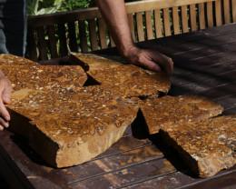 Massive 27 Kilo Yowah Slab Impregnated with Opal Nuts