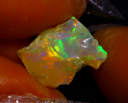 3.77Ct Multi Color Play Ethiopian Welo Opal Rough J2021/R2