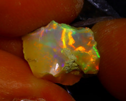 3.47Ct Multi Color Play Ethiopian Welo Opal Rough J2022/R2