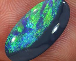 1.9ct 16.5x8mm Solid Lightning Ridge Black Opal [LO-2333]