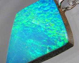 Australian Opal Pendant Solid Sterling Silver 5.7ct