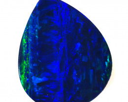 6.24CTS   GREAT SIZE OPAL DOUBLET TOP FLASHES OF COLOUR - S1407