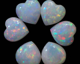 1.37CTS 6 SET  STONES PARCEL COOBER PEDY -GREAT COLOR PLAY -S1411
