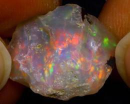 7.05Ct Multi Color Play Ethiopian Welo Opal Rough JN113