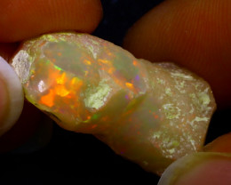 13.38Ct Multi Color Play Ethiopian Welo Opal Rough JN115
