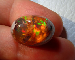 22.61ct Top Natural Mexican Matrix Cantera Multicoloured Fire Opal