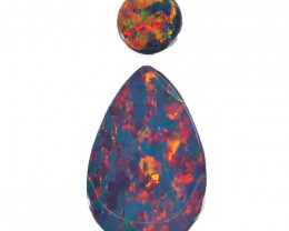 2.54CTS  OPAL DOUBLET PAIR , GREAT COLOUR PLAY --S1436