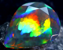1.74cts Natural Ethiopian Faceted Smoked Black Opal / HM156