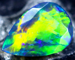 0.90cts Natural Ethiopian Faceted Smoked Black Opal / HM173