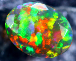 1.07cts Natural Ethiopian Faceted Smoked Black Opal / HM169