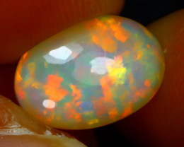 Welo Opal 3.06Ct Natural Ethiopian Play of Color Opal J2205/A44