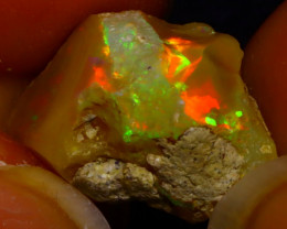5.46Ct Multi Color Play Ethiopian Welo Opal Rough J2213/R2