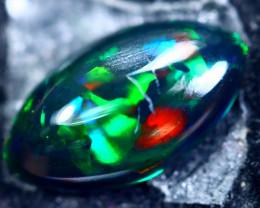 1.51cts Natural Ethiopian Smoked Black Opal / BF1881