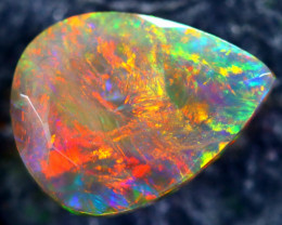 0.95cts Natural Ethiopian Faceted Smoked Black Opal / BF1888