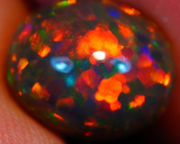 2.53CT Natural Dark Base! Collector Grade Rare AAA Welo Ethiopian Opal-HAA2