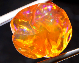 11.75 CTS MEXICAN FIRE OPAL STONE  FOB -2076
