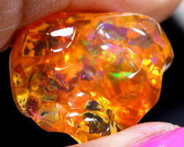 13.35 CTS MEXICAN FIRE OPAL   FREEFORM  STONE  FOB -2080